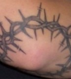 Barbed Wire Tattoo Armband