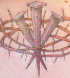 Tattoo Removal Nails Encompassed With A Crown Of Thorns Tattoo