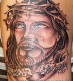 Tattoos Chris Oppenheim Jesus With Crown Of Thorns Tattoo