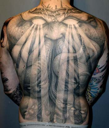 Tattoos Paul Booth  Of Thorns Demon Back Piece