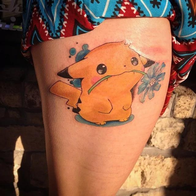 cute Pikachu tattoo1