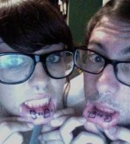 Temporary Inner Lip Couple Tattoos