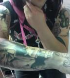 Dahvie Vanity Tattoo on Right Arm