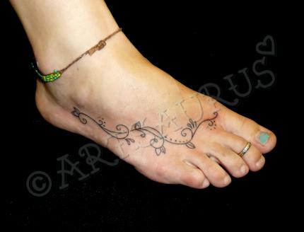 Cute Swirly Flower Tattoos for Women – Tattoos for Women