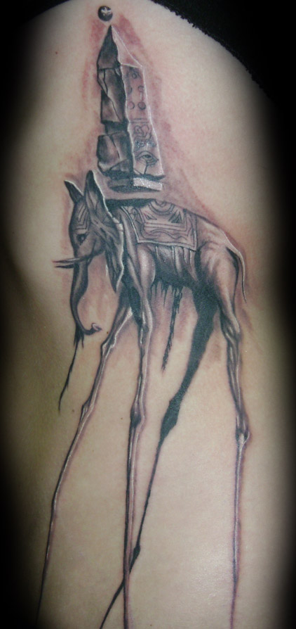 Awesome and Cool Dali Elephant By Vileangelofdeath