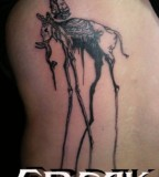 Freak Dali Elephant Tattoo Picture for Women