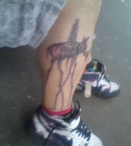 Beautiful Salvador Dali Elephant Tattoo on Men Leg