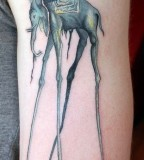 Art The Dali Elephant Tattoo Ink for Man and Women