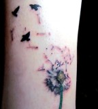 Dandelion And Birds Tattoo Arts