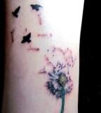 Dandelion And Birds Tattoo Arts