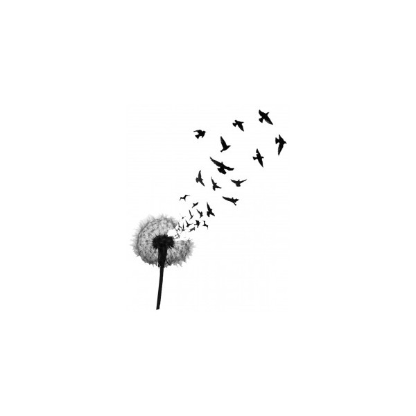 Simple Dandelion Birds Tattoo Design