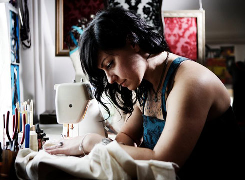 American Pickers Danielle Colby Cushman Chest Tattoo