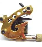 Gold Top Handmade Danny Fowler Tattoo Machine Gun Shader M109