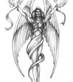 Fettered Angel Tattoo Designs