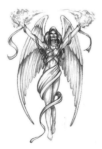 Fettered Angel Tattoo Designs
