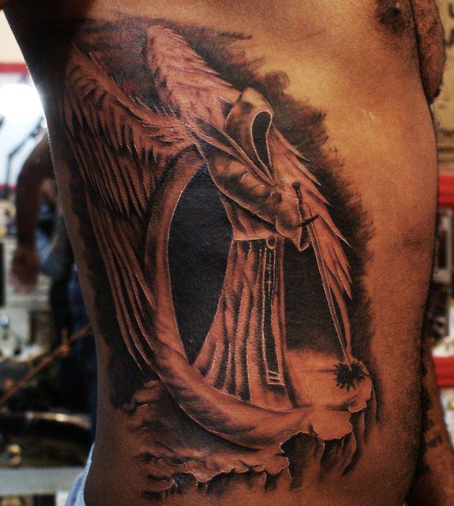 Black Angel Tattoo Designs Ideas