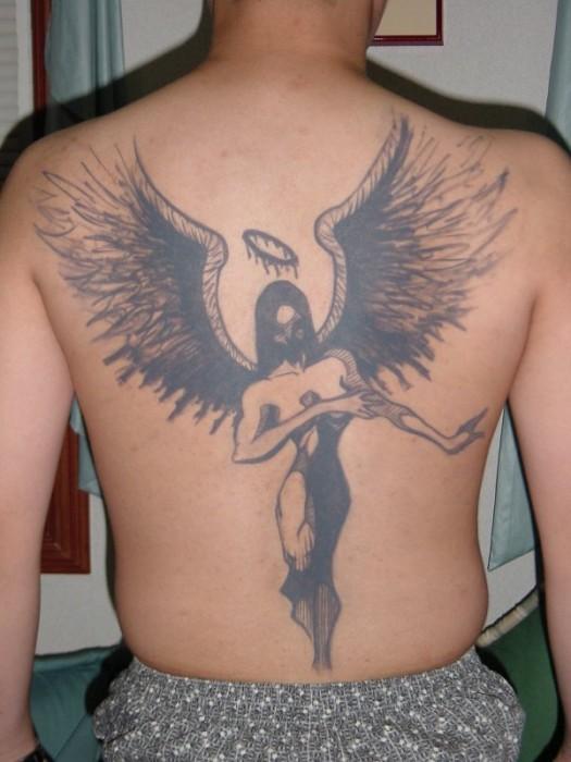 Dark Angel Tattoo Cheryl Tan Scifi Fantasy Art