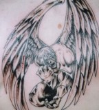 Tribal Angel Tattoo Design Ideas