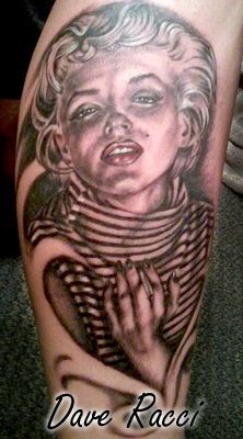 Beautiful Marilyn Monroe Tattoo Design