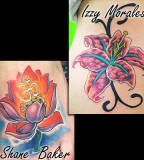 Amazing Flower Color Tattoo  Design