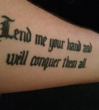 Minnesota Initiation - Tattoo Quote On Forearm