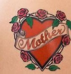 Love Flower Tattoo For Mother