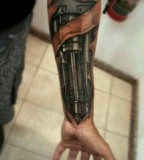 Terminator Arm Tattoo Design