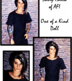 One Of A Kind Ooak Doll Look Like Davey Havok AFI with Full-Sleeve Tattoos