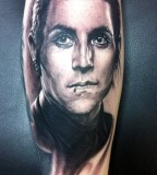 Cool Tattoo Inspired by Davey Havok of A.F.I Face
