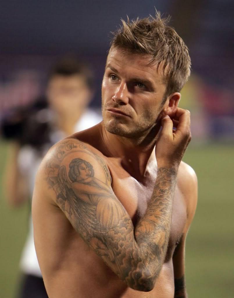 3772f2fdd Oustanding Right Arm David Beckham Tattoos -   TattooMagz › Tattoo ...