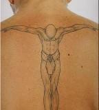 David Beckham Back Tattoo Picture