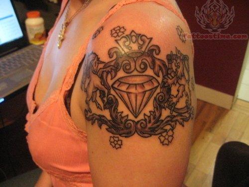 Best Diamond Tattoo Design on Arm for Girls
