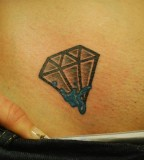 Charming Diamond Girls Tattoo Design on Hip