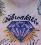 Superb Diamond Girls Tattoo  Design on Chest
