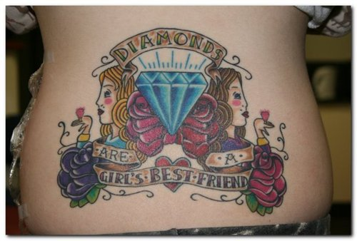 Gorgeous Diamond Shaped Tattoo Design for Girls