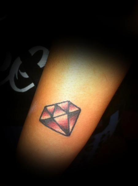 Small Diamond Girls Tattoo Design on Forearm