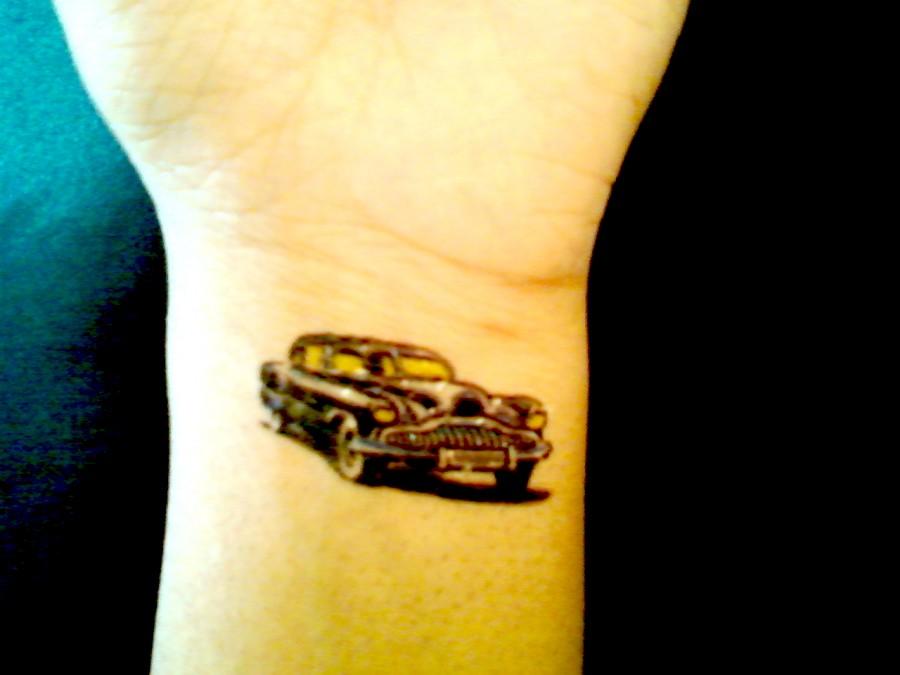 Unique 50s Car DIY Temporary Arm Tattoo Ideas