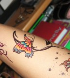 Colored Wonderful Butterfly DIY Temporary Tattoo Ideas