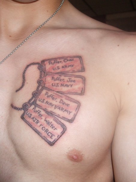 adcba34cc Family Dog Tags Tattoo Design - | TattooMagz › Tattoo Designs / Ink ...