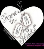 Forever In My Heart With Dog Tags Tattoo Design By Denise A Wells