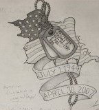 Memorial Dog Tag Tattoo Design Inspiration