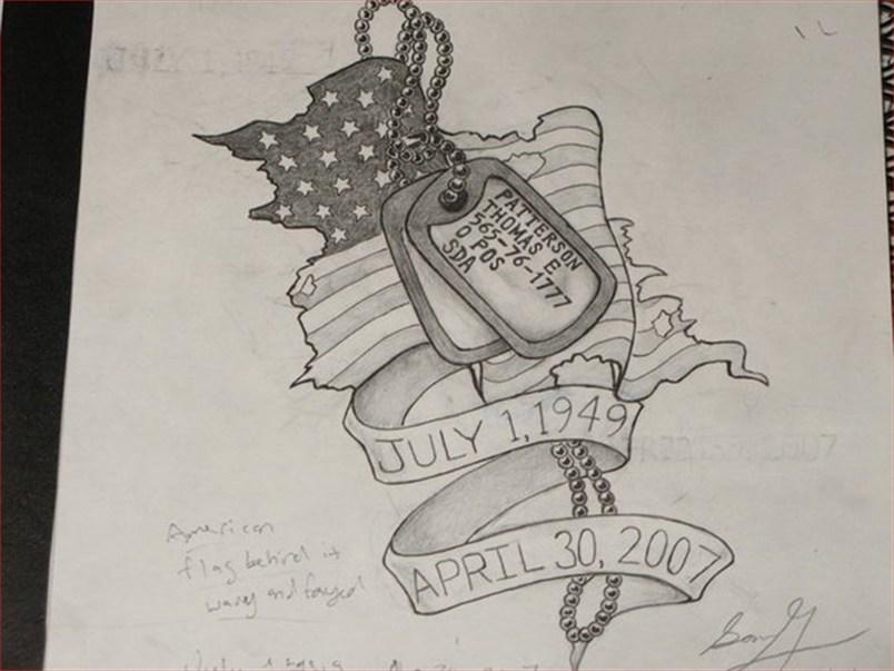 Memorial Dog Tag Tattoo Design Inspiration