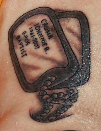 da092512e Memorial Military Dog Tags Tattoo - | TattooMagz › Tattoo Designs ...
