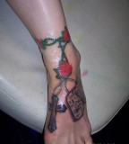 Roses And Dog Tags Tattoo Marine Corps Tattoos