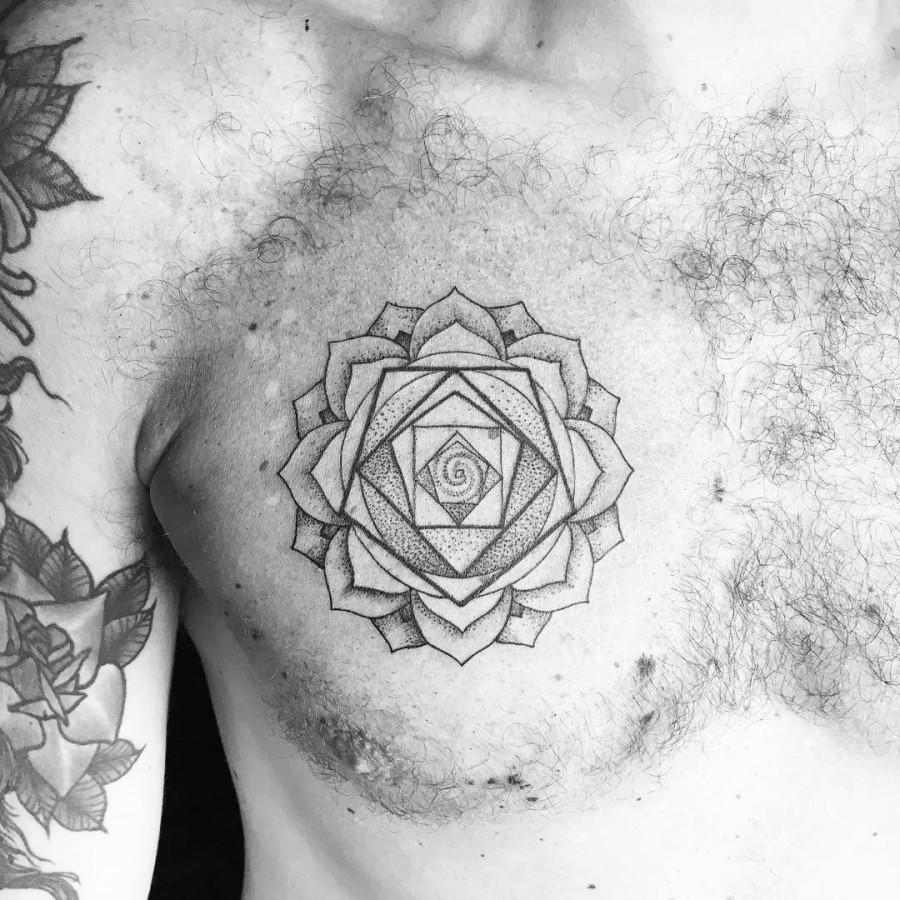 dotwork-rose-chest-tattoo-by-noumenius