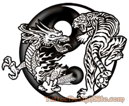 Beautiful Yin And Yang Dragon Tiger Tattoo Tattoomagz Tattoo