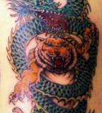 Asian Dragon Tiger Tattoo