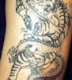 Exceptional Tattoo Tiger And Dragon