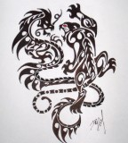 Crouching Indian Tiger Hidden Chinese Dragon Sketch
