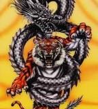 Tiger Drachen Kampf Tattoo